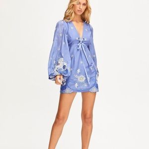 Alice McCall Honeycomb Daisy Dress Periwinkle